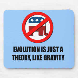 Evolution is just a theory like gravity mouse pad