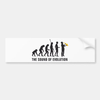 evolution jazz bumper sticker
