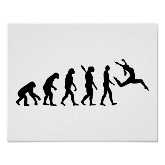 Evolution jazz dancing poster