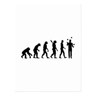 Evolution Juggling Postcard