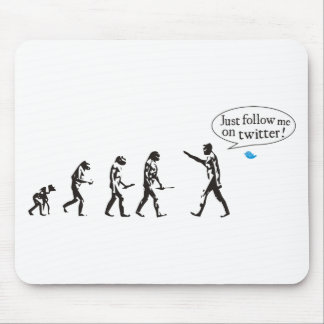 Evolution - Just follow on to twitter me Mouse Pads