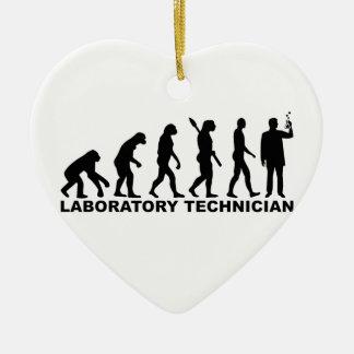Evolution laboratory technician ceramic ornament