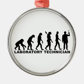 Evolution laboratory technician metal ornament