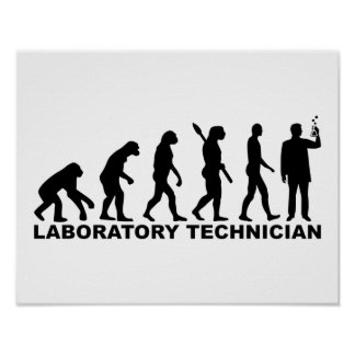 Evolution laboratory technician poster