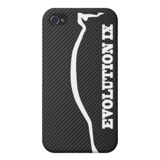 Evolution Lancer 9 White Silhouette w/ Faux Carbon iPhone 4/4S Case