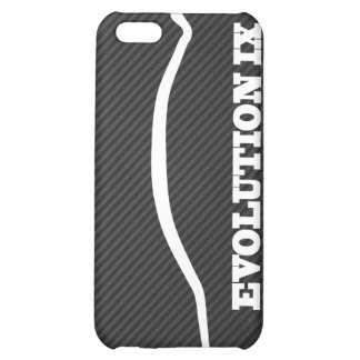 Evolution Lancer 9 White Silhouette w Faux Carbon iPhone 5C Covers