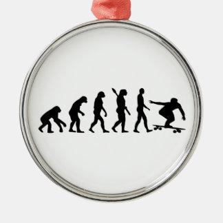 Evolution Longboard Metal Ornament