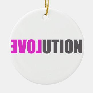 Evolution Love Round Ceramic Decoration