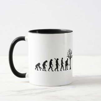 Evolution lumberjack mug