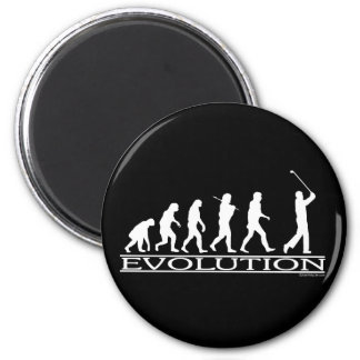 Evolution - Man - Golf Magnet