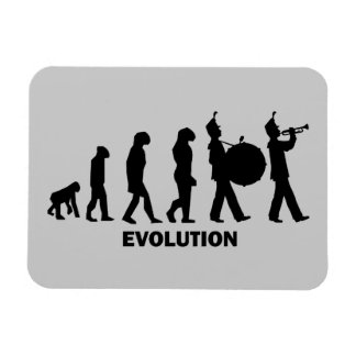 evolution marching band rectangular photo magnet