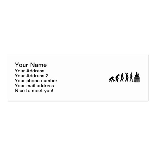 Evolution Mason brick layer Business Cards