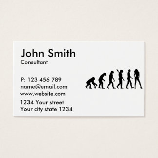 Evolution model business card