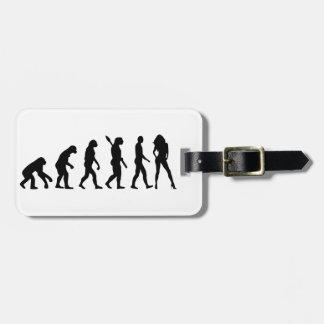 Evolution model luggage tag