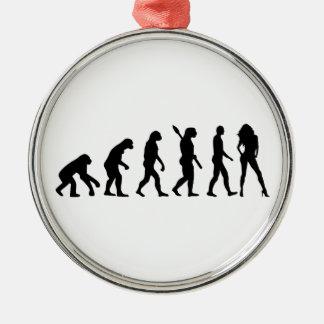 Evolution model metal ornament
