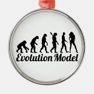 Evolution model Silver-Colored round decoration
