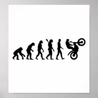 Evolution Motocross racing Poster