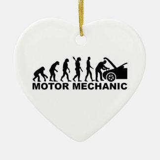 Evolution motor mechanic ceramic heart decoration