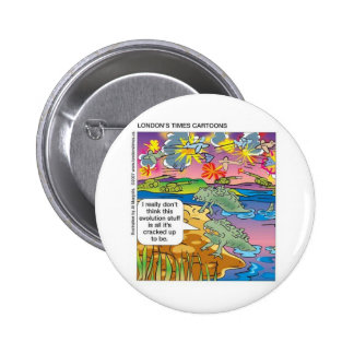 Evolution Not So Great Funny GiftsTees Collectible 6 Cm Round Badge