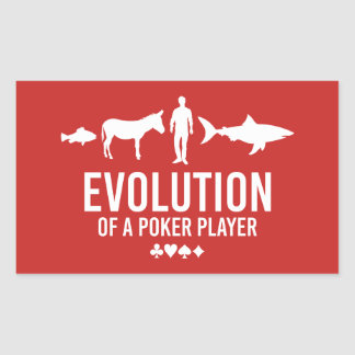 Evolution of a Poker Player Rectangular Sticker
