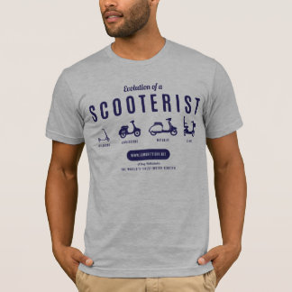 Evolution of a Scooterist – Navy Print T-Shirt