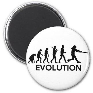 Evolution of a Softball Player 6 Cm Round Magnet