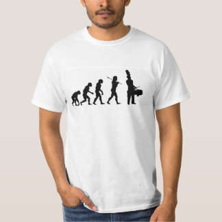 Evolution of a Tenor Drummer (basic white) T-Shirt