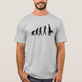 Evolution of a Tenor Drummer (light colors) T-Shirt