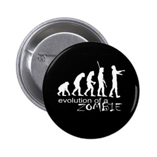 evolution of a zombie 6 cm round badge