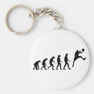 Evolution of Basketball Basic Round Button Key Ring