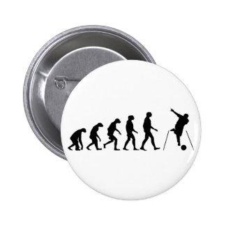 Evolution of Bowling 6 Cm Round Badge