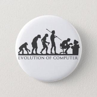 EVOlution OF COMPUTER 6 Cm Round Badge