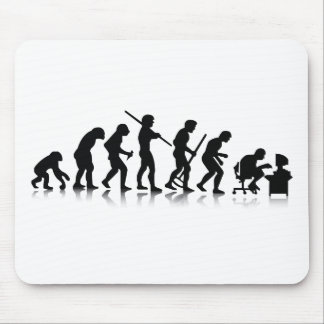 Evolution of Computer Addicts Mouse Pad