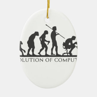 EVOlution OF COMPUTER Ceramic Oval Decoration
