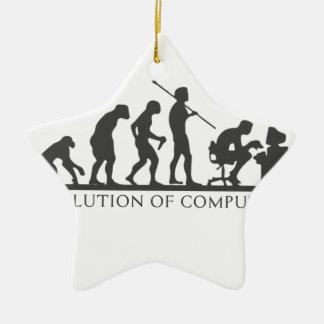 EVOlution OF COMPUTER Ceramic Star Decoration