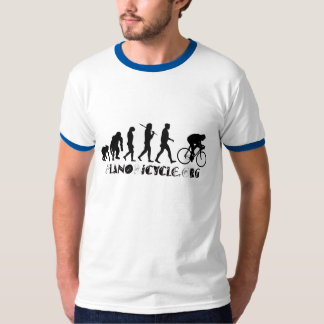 Evolution of Cycling Arty Logo Plano Texas Gear T-Shirt