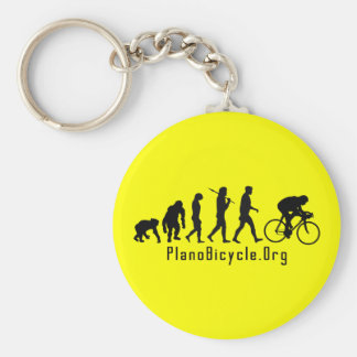 Evolution of Cycling Clean look Plano Logo Basic Round Button Key Ring