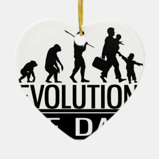 evolution of dad ceramic heart decoration