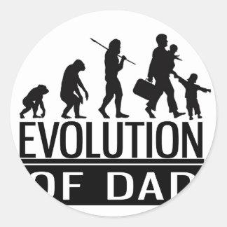 evolution of dad classic round sticker