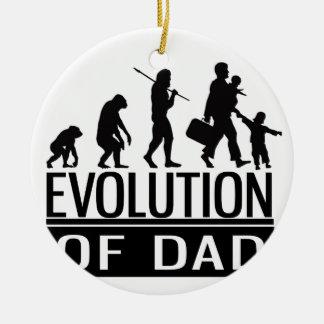 evolution of dad round ceramic decoration