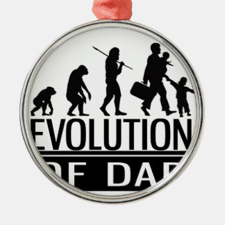 evolution of dad Silver-Colored round decoration