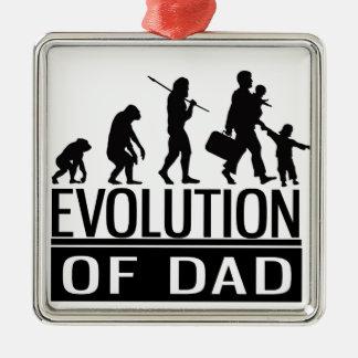 evolution of dad Silver-Colored square decoration