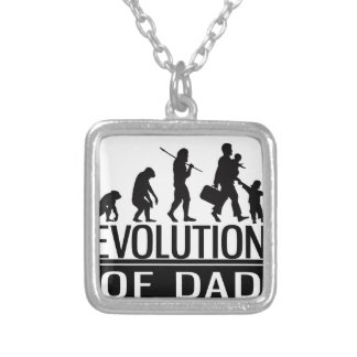 evolution of dad silver plated necklace