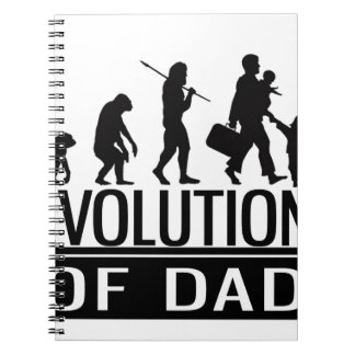 evolution of dad spiral notebook