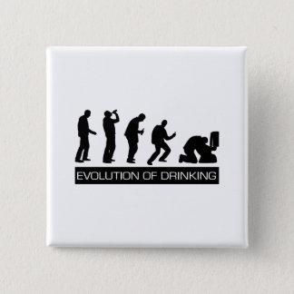 Evolution of Drinking 15 Cm Square Badge