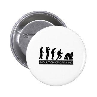 Evolution of Drinking 6 Cm Round Badge