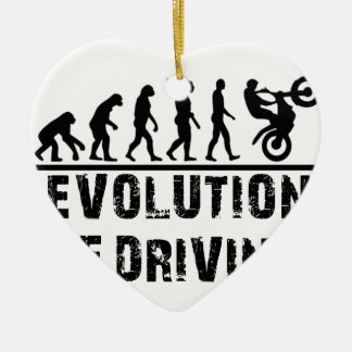 Evolution Of driving Ceramic Heart Decoration