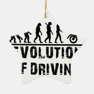 Evolution Of driving Ceramic Ornament
