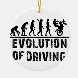 Evolution Of driving Round Ceramic Decoration