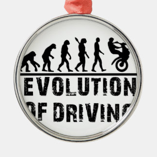 Evolution Of driving Silver-Colored Round Decoration